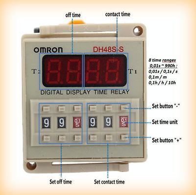 DH48S-S, 990h Repeat-Timer, 0.01S ~ 990H Digital LED Display 230V , OMRON