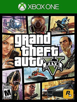 Neuf Grand Theft Auto Gta V 5 (Microsoft Xbox One, 2014)