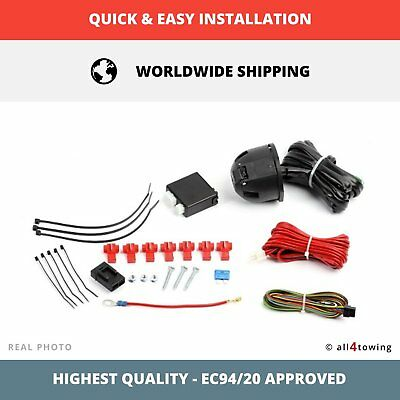 Brand-new Complete Universal 7pin Towbar Electrics Wiring Kit + Bypass Relay