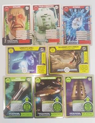 Doctor Who Monster Invasion Cards RARE FOILS x8 (#'s 36 40 54 59 79 137 144 152)