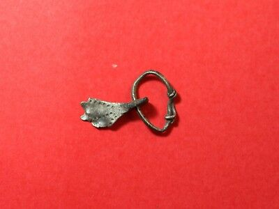 Ancient Celtic Silver Amulet 1480H
