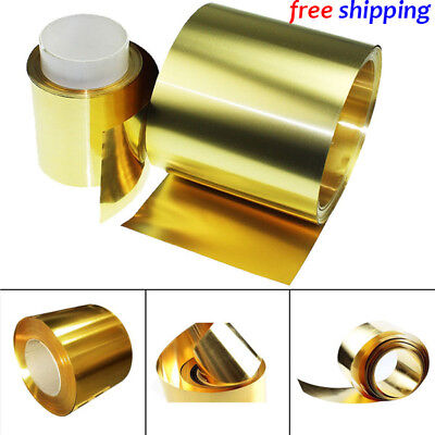 Brass Metal Thin Sheet Foil Plate 0.02 x 100 x 1000 mm (free shipping to usa)