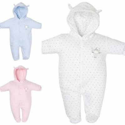 Baby Girls Boys Clothes Premature Prem Tiny Warm Pramsuit Snowsuit Coat