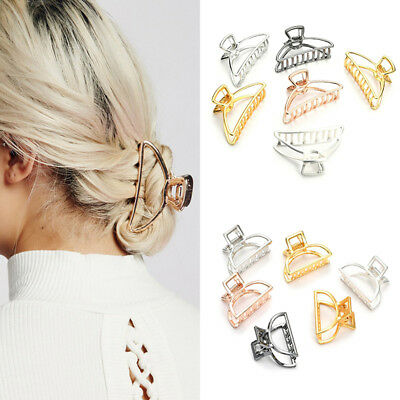 Elegant Chic Women Alloy Small Large Hair Claw Clamps Clips Accessories Headwear