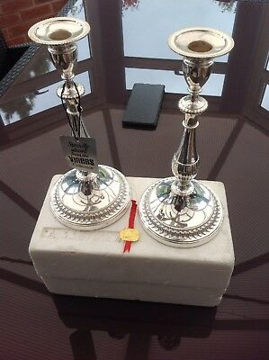 """Pair Of Vintage Viners Tall Candlesticks Silver Plate A333/300 11.5"""""""