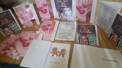 50 X Mixed Christmas Cards New Assorted 3 Styles Wholsale Job Lot & Envelopes £5