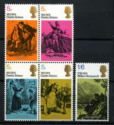 SG824-828 1970 DICKENS Unmounted Mint GB