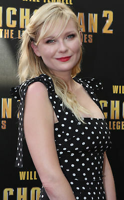 Kirsten Dunst With White Dot Dress 8x10 Quality Photo Print
