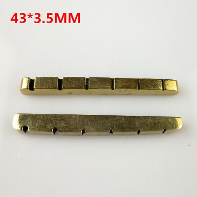ARM® 1Pc/Set Solid Brass Metal Electric Guitar Nut 43mm For ST Tele Guitars