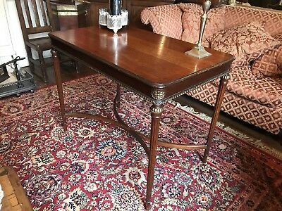 Stunning antique William IV Hall table With Gilded Detail, Regency