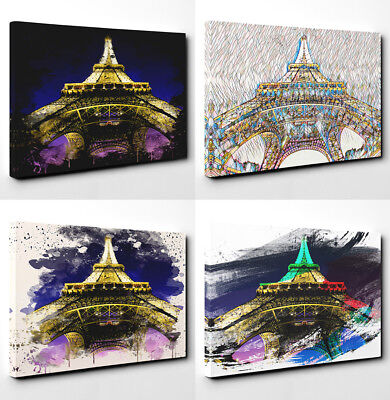 Canvas Print Art Picture on Wall Abstract Home Decor Eiffel Tower Paris (2)