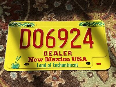 New Mexico Dealer License Plate