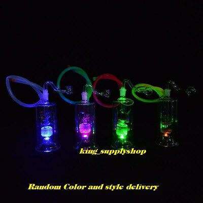 """5"""" Inches LED Bong Mini Vortex Honeycomb with 10mm Glass Bowl"""