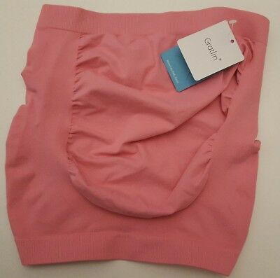 Women's Gratlin Maternity Belly Band Soft Seamless Pressure Support Hot Pink M