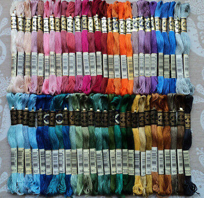 56 x DMC CROSS STITCH / EMBROIDERY THREADS - MIXED COLOURS - BRAND NEW