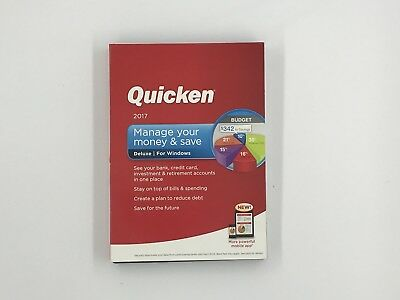 QUICKEN 2017 Manage Your Money & Save DELUXE for Windows NEW