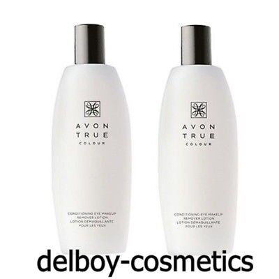 2x Avon True Colour Conditioning Eye Make Up Remover Lotion