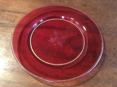 Victorian Cranberry Glass Plate
