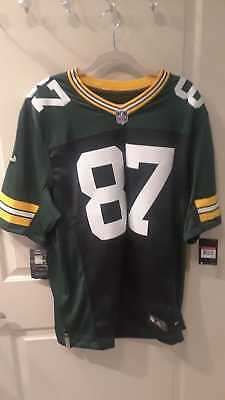 a4bfe6558 NEW Nike Green Bay Packers 87 Jordy Nelson Green Limited Jersey Size L -   150