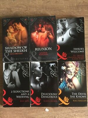 Job Lot Of 6 Mills And Boon Books