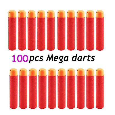 HOT Lot 100 Nerf N-Strike Elite Mega For Centurion Blaster Refill Foam Darts