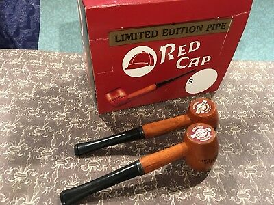 Lot of 2 Rare Limited Edition RED CAP MISSOURI MEERSCHAUM Corn Cob Tobacco Pipe
