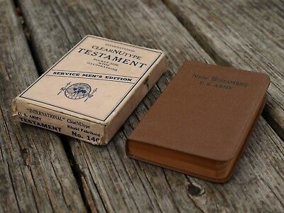 Vtg ClearNuType Testament US Army Service Men's Edition Illustrated Pocket Bible