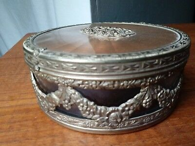 Vintage Apollo Powder Vanity Jar Box ladies dresser accessory