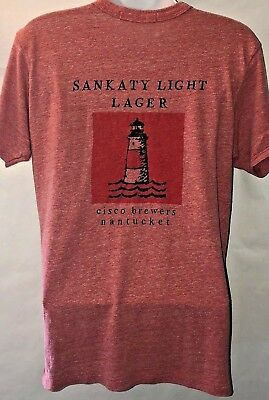Cisco Brewery Red Sankaty Light Lager Womens Size Medium Tee T-Shirt Nantucket