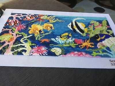 55x28.5 mounted (handcrafted) FINISHED LONGSTITCH embroidery
