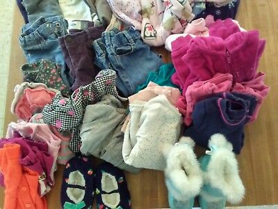 Huge lot of girls clothing size 3T Carters Old Navy Frozen Slippers