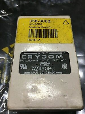 Crydom 90 A Solid State Relay, Zero Cross, Panel Mount SCR, 280 V rms Maximum