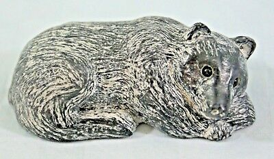 NEW A Wolf Original Soapstone Carving Sculpture BEAR - Hand Made in Canada