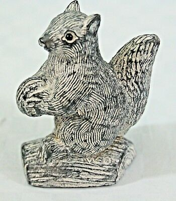 NEW A Wolf Original Soapstone Carving Sculpture SQUIRREL - Hand Made in Canada