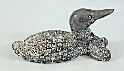 NEW A Wolf Original Soapstone Carving Sculpture DUCK  - Hand Made in Canada