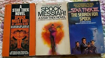 Star Trek Lot Of 3 Spock Must Die, Spock Messiah, Search For Spock Vintage Books
