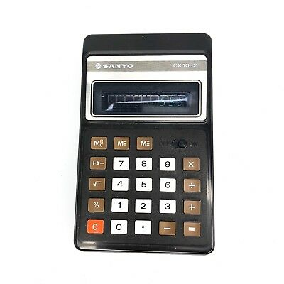 Vintage 1980 Sanyo CX-1032  CX 1032 Pocket Calculator Made in Japan