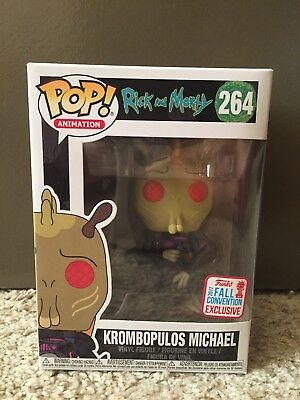 Funko Pop Krombopulos Michael #264 Rick and Morty NYCC 2017 Brand New
