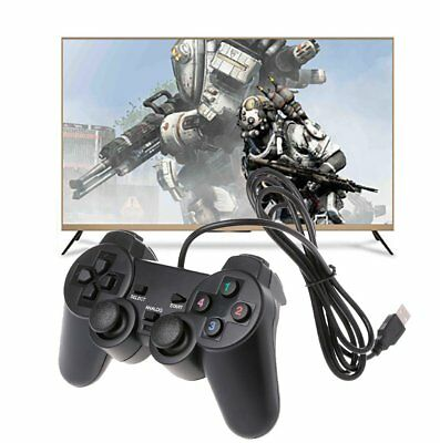 2018 Wired USB Gamepad Remote Game Controller Double Vibration Motor Joystick PC