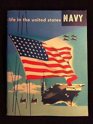 1952 Life In The United States NAVY illustrated Recruiting Booklet  *Korea Era*