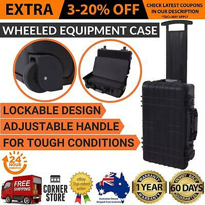 Wheel Equipped Tool Equipment Case with Pick Pluck Adjustable Telescopic Handle