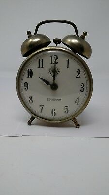 83c0abbf3 Vintage Chatham Bell Top Alarm Clock Made by Robertshaw Control Lux Time  Div. FC