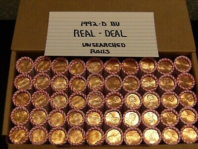 1992 D Bu Roll Lincoln Memorial Cents Sealed Unsearched *Buy (2) Rolls & Save !