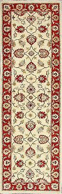 Traditional HandKnotted Modern Chobi Runner Area Rug Red/Beige Color (2.5 x 8)