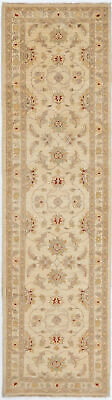 Traditional HandKnotted Oriental Chobi Runner Area Rug Beige Color (2.5 x 10)