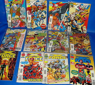 Batch of comics X-FORCE- 12 numbers bagged and protected-very good condition