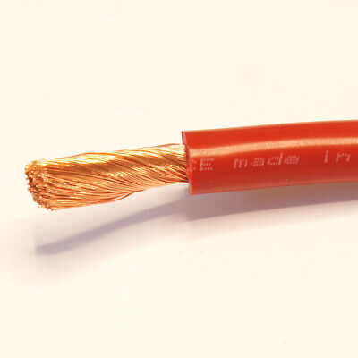 16mm2 110 A Amps Flexible PVC Battery Welding Cable Wire Copper Red 1 M Meter