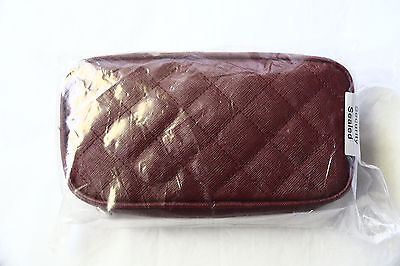 SINGAPORE AIRLINES First Class Female Amenity Travel Kit FERRAGAMO Burgundy New