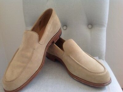 John Lobb Men shoes CHESTER Herren Schuhe Slippers Loafers Wildleder Suede Beige