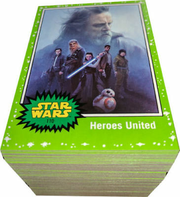Star Wars - Journey to The Last Jedi - Green - Complete Card Set (110) 2017 - NM
